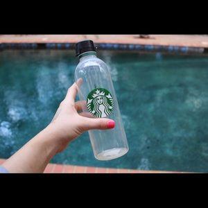 Starbucks clear water bottle. NWT.